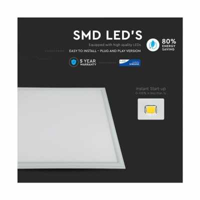 45W LED PANEL 60x60 MED SAMSUNG CHIP 4000K 5 ÅRS GARANTI