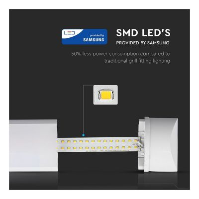 50W LED FITTING 150CM WITH SAMSUNG CHIP 6400K VT-8-50