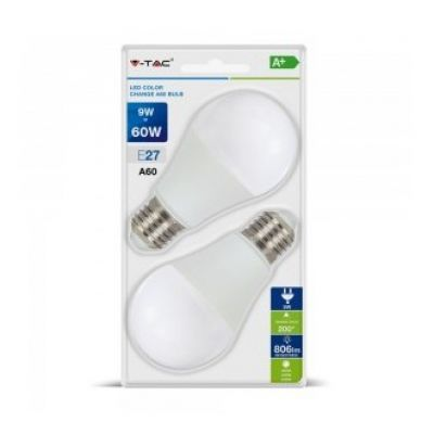 COLOR CHANGING BULB 9W 3 IN 1 E27 BLISTER PACK