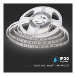 INDOOR LED STRIP WHITE 10.8W/Meter 6000K IP20 5 METER VT-5050-60