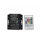 RGBW 6A 288W 12V RF CONTROLLER WITH REMOTE CONTROL 24 BUTTONS