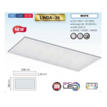 LED DOWNLIGHT RECTANGLE 24W COOL WHITE 4200K LINDA-36