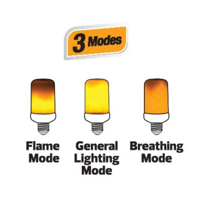 LED FIRE FLAME LAMP 3 MODES WITH GRAVITY SENSOR 1500K - FIREFLUX