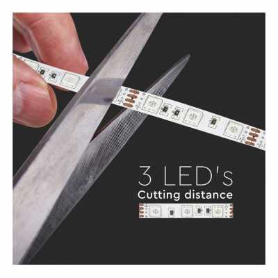 LED LIST KIT RGB 60 SMD IP20 V-TAC 5 METER 12V VT-5050