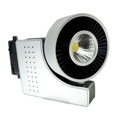 LED TRACK LIGHT 1-FASE VIT 40W 24° 4200K Silver ZURIH-40