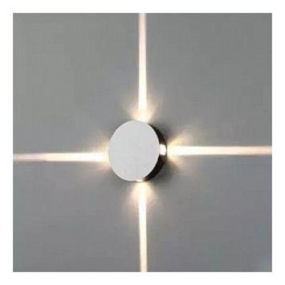 4W LED OUTDOOR WALL LIGHT 4000K WATERPROOF IP65 BLACK BODY ROUND