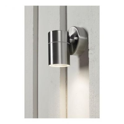 Wall spotlight stainless steel with 35W Halogen LAMP MANOLYA-1