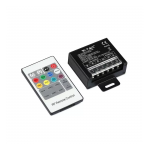 RGB 6.6A 240W 12/24V RF CONTROLLER WITH REMOTE CONTROL 20 BUTTON
