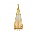 WOODEN FLOOR LAMP WITH RATTAN LAMPSHADE E27 HOLDER VT-4150