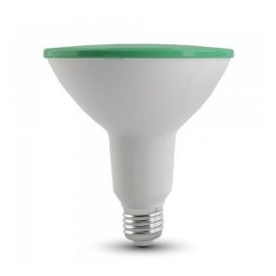 WATERPROOF LED BULB 15W IP65 GREEN E27 VT-1125